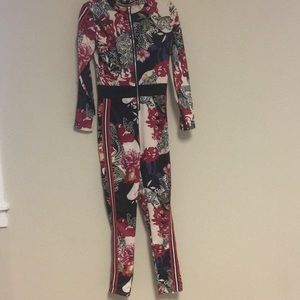 Floral one piece jumpsuit